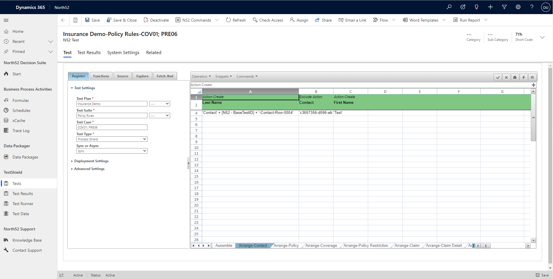 Insurance Claims Adjudication Automated Testing - Microsoft Dynamics 365