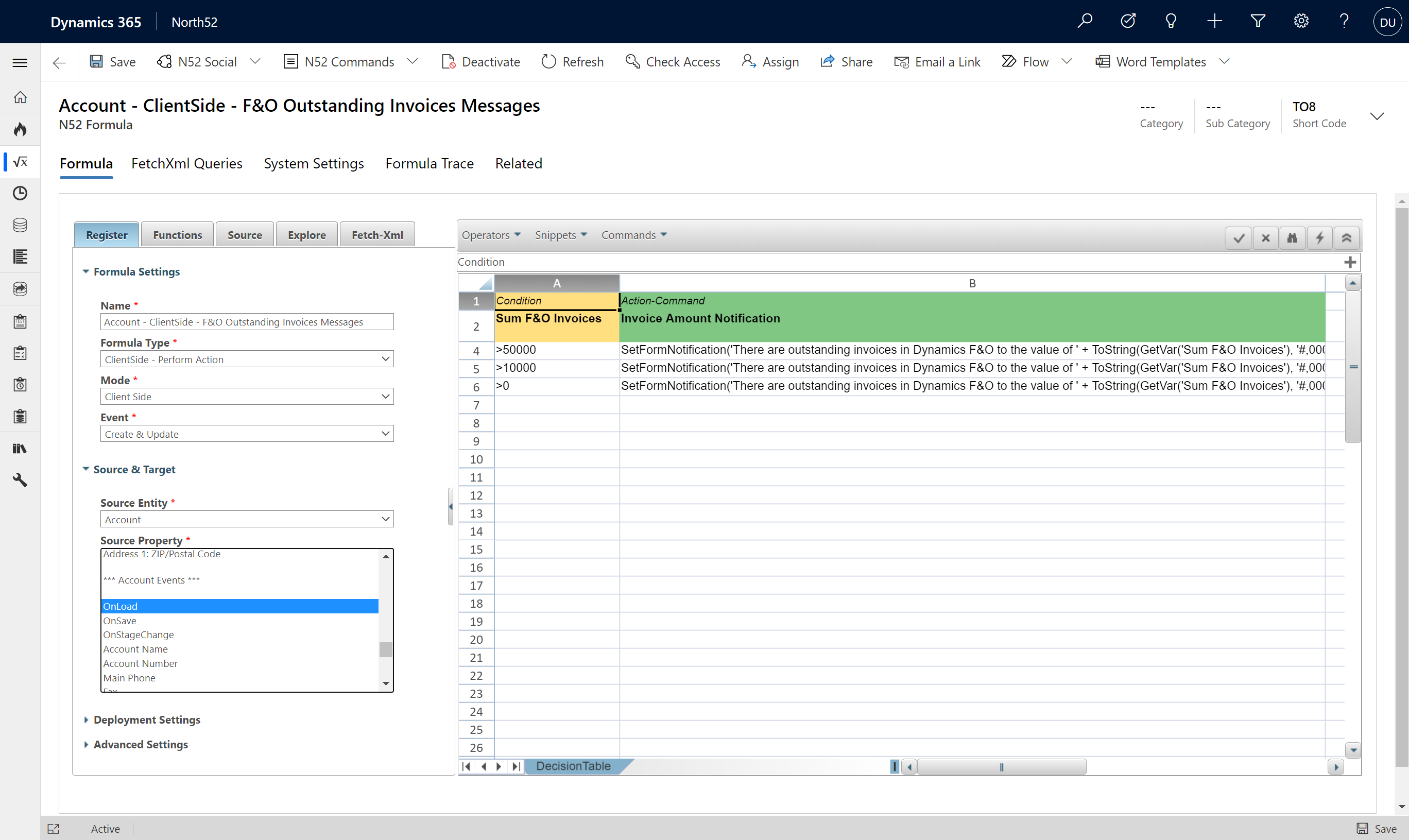 Finance And Operations Virtual Entity Integration - Decision Table - Outstanding Invoices