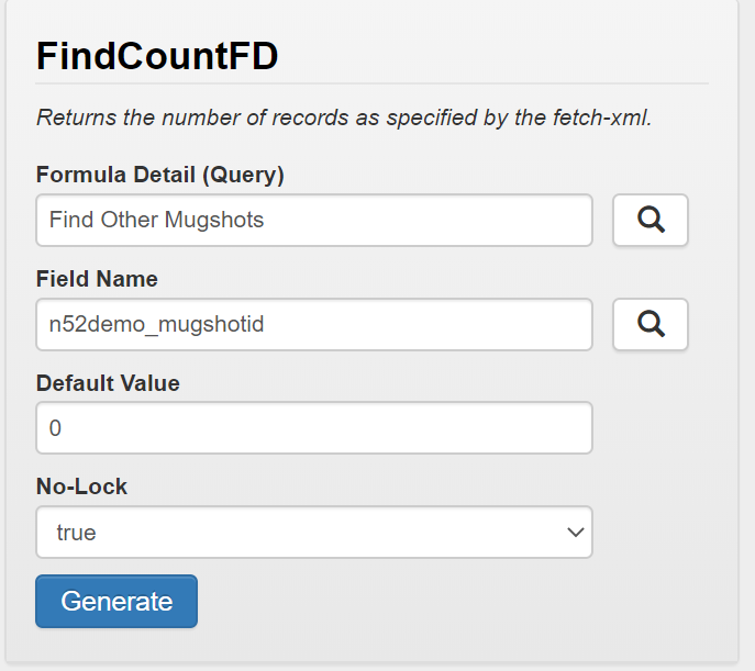 Function Wizard FindCountFD - North52 Business Rules Engine for Dynamics 365