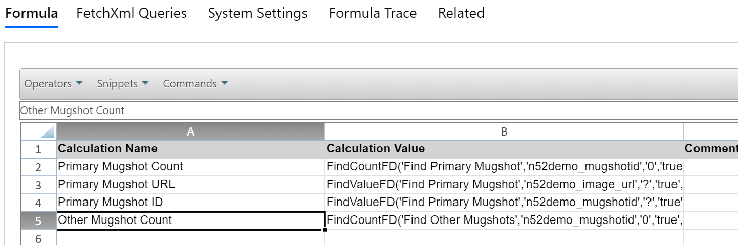 Global Calculations Sheet - North52 Business Rules Engine for Dynamics 365