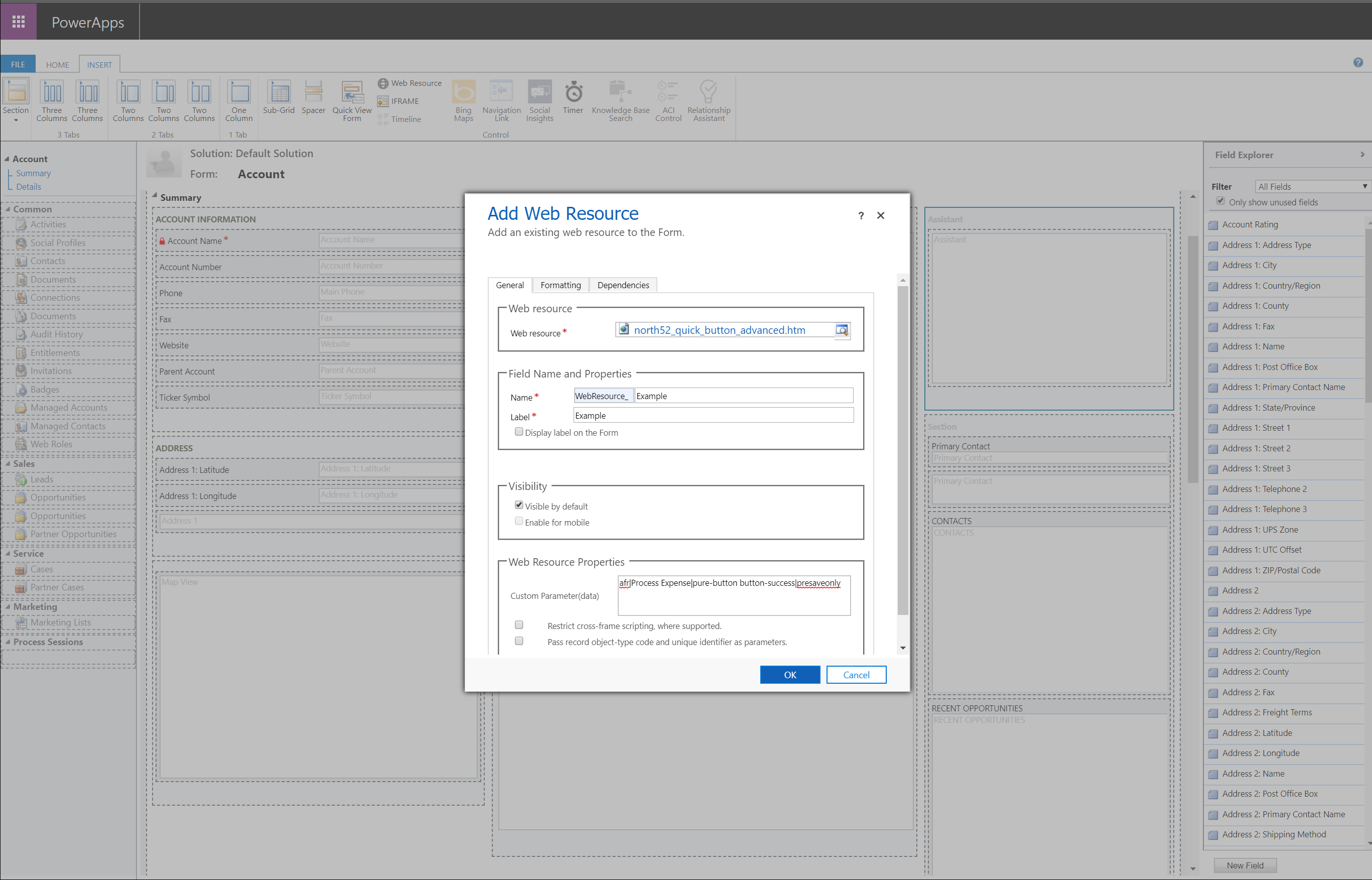 KA-01953-dynamics-crm-365-North52-App-Quick-Button · North52 Support