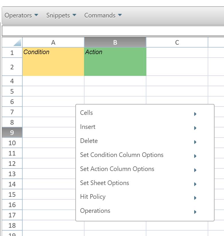 Dt how to 06 use the decision table context popup menu menu commands ccuart Images