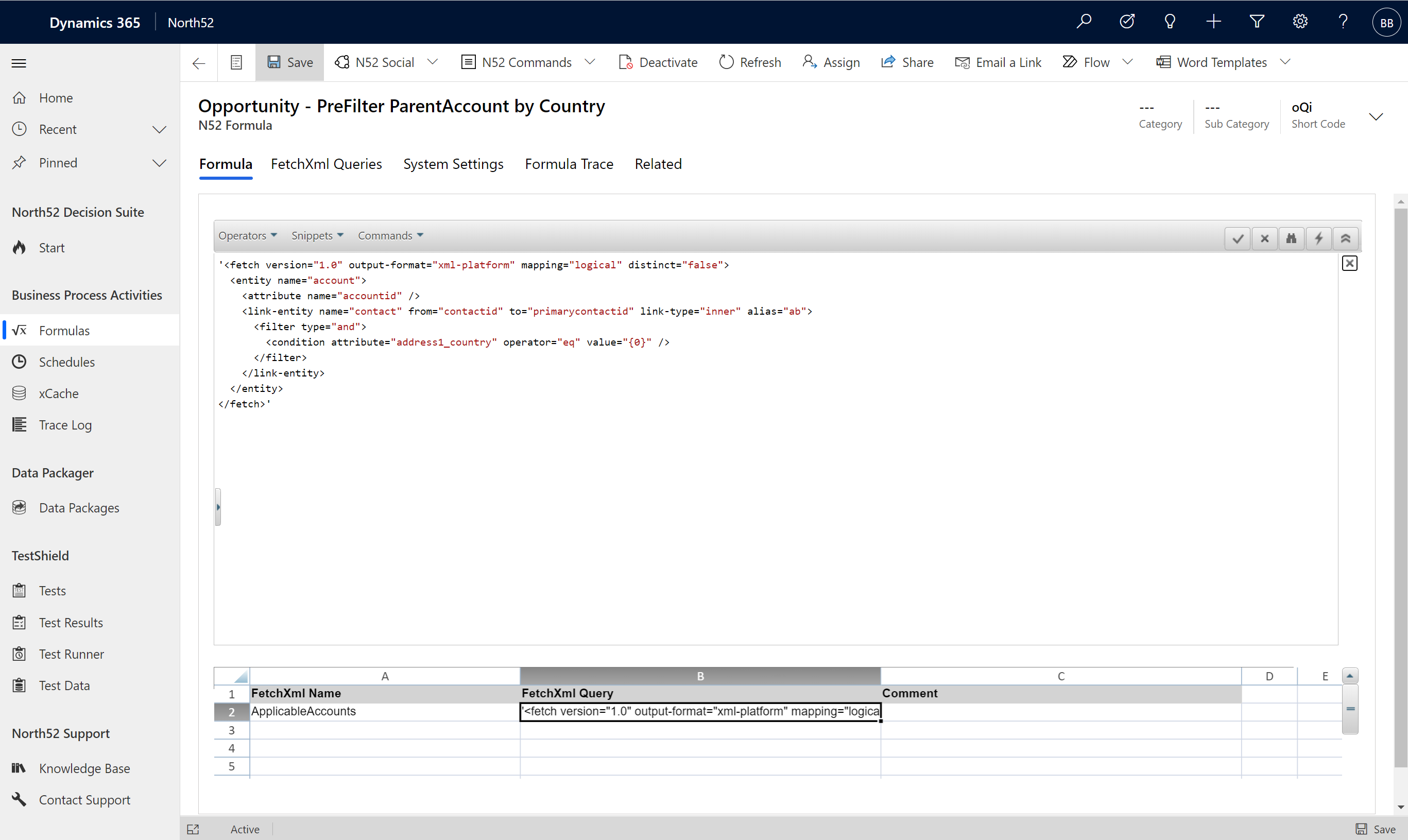 North52 Business Rules Engine for Dynamics 365 - AddPreFilterLookup