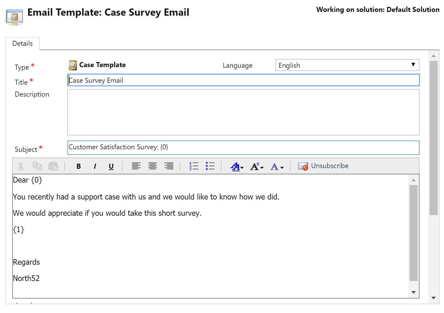 Xrm formula 087 voice of the customer case resolution for Customer survey email template