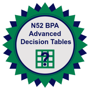 Training Badge - North52 BPA Advanced Decision Tables