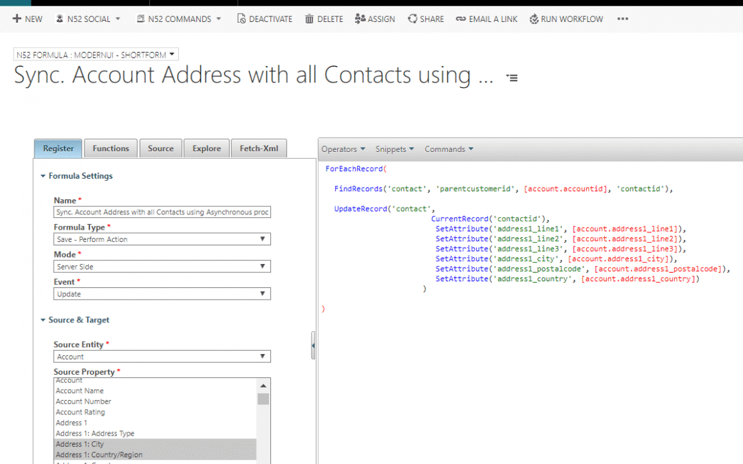 Business Rules Example #137 – Sync. Account Address with all Contacts using Asynchronous processes