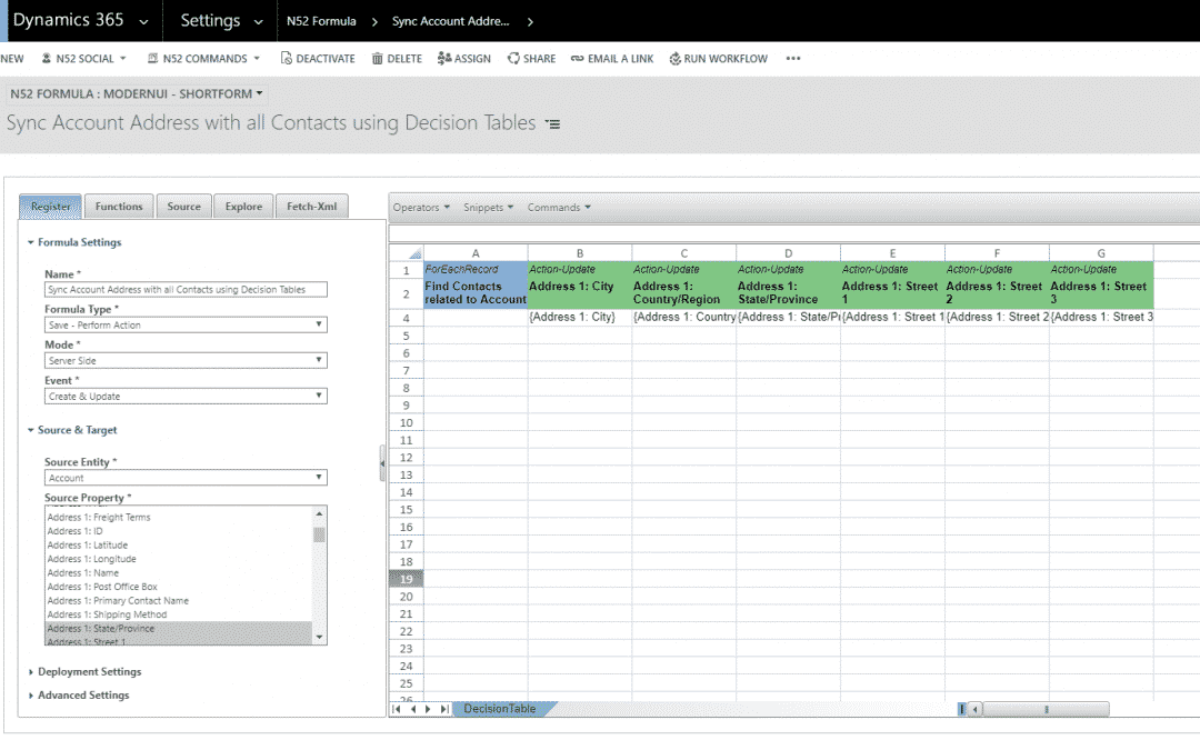 Business Rules Example #187 – Sync Account Address with all Contacts using Decision tables