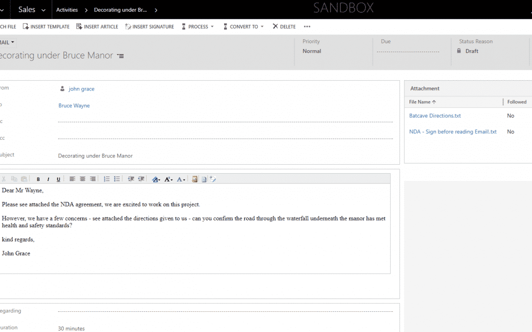Business Rules Example #191 – Send email attachments to Sharepoint via Schedule.