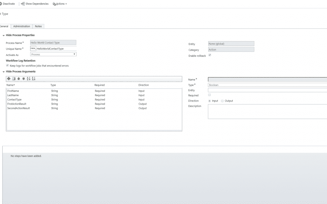Business Rules Example #200 – Hello World using Custom Actions