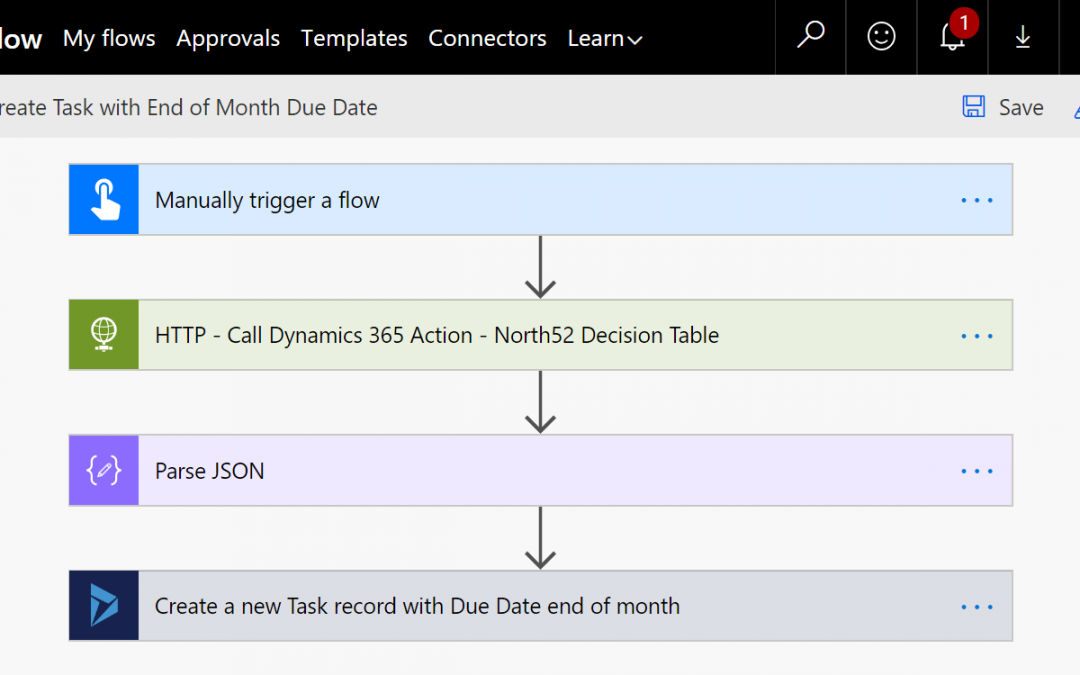 Business Rules Example #220 – Execute a North52 Decision Table as part of a Microsoft Flow