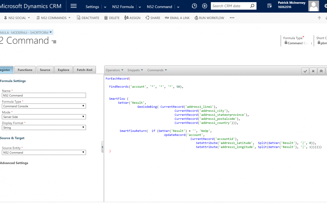 Business Rules Example #002 – Geo Encode a set of Dynamics CRM Account Addresses