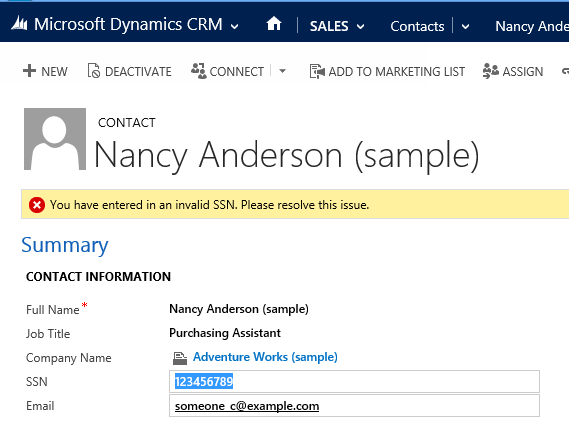 Business Rules Example #057 – Validate SSN