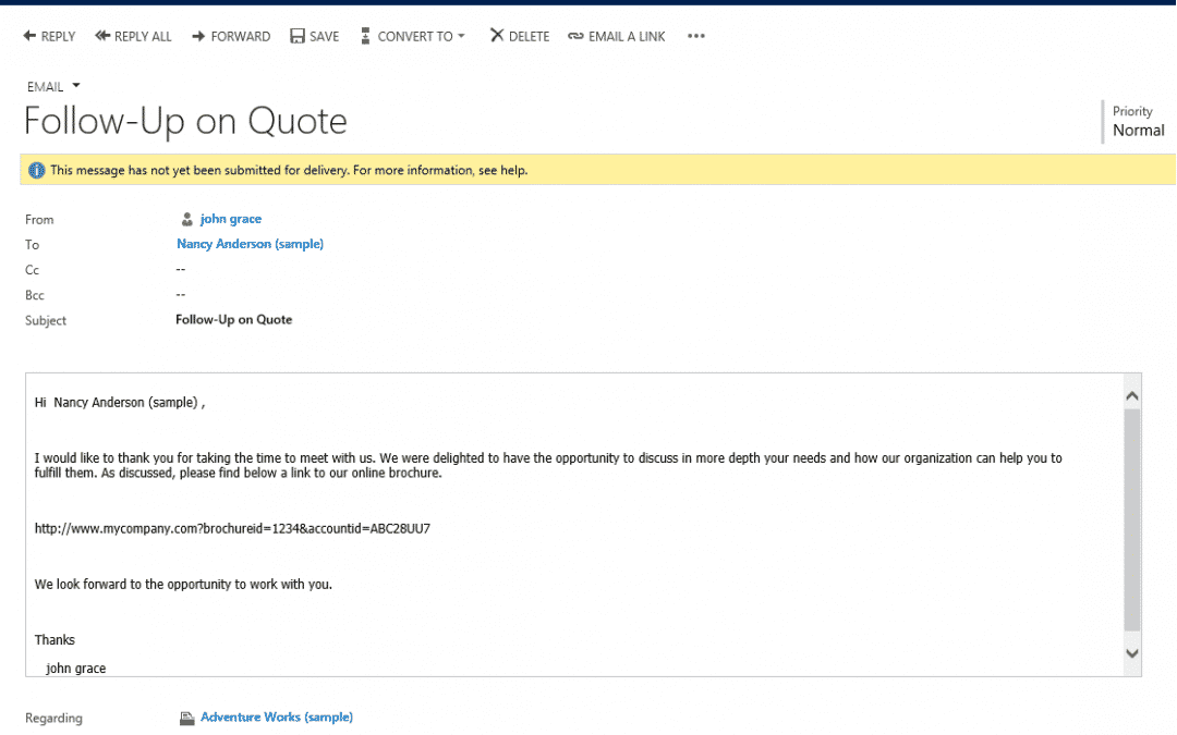 Business Rules Example #058 – Dynamically update Email Description