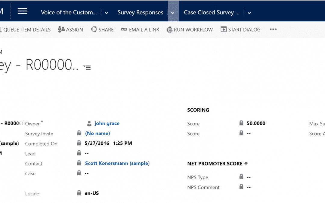Business Rules Example #088 – Voice of the Customer – Modify Survey Score