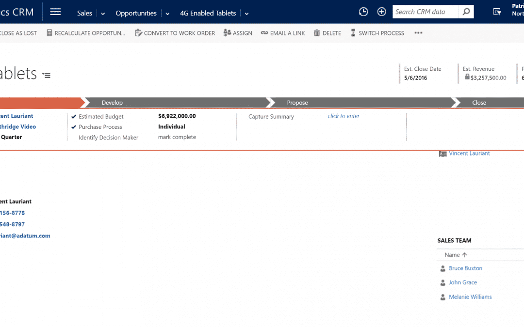 Business Rules Example #095 – Send Email to Sales Team Members when Opportunity is Closed